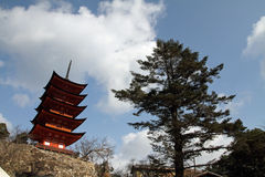 Five story pagoda of Itsukushima Shrine Royalty Free Stock Image
