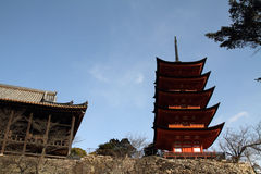Five story pagoda of Itsukushima Shrine Royalty Free Stock Photography