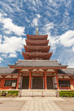 Five-story pagoda of Senso-ji Temple, Tokyo, Japan Stock Photo