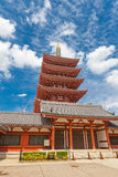 Five-story pagoda of Senso-ji Temple, Tokyo, Japan Stock Photography