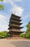 Five-story pagoda of Toji Temple in Kyoto. UNESCO site Royalty Free Stock Photography