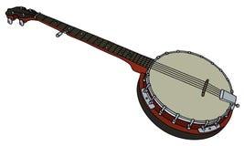 Five string banjo Stock Images