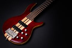 Five string electric bass stock photo