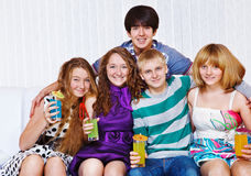 Five students Royalty Free Stock Photo