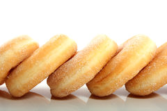 Five sugared donuts Royalty Free Stock Photos