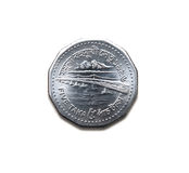 Five Taka. Coin on isolated white background with Jamuna Bridge - the Taka is the currency in Bangladesh