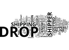 Five Tested Ways To Find The Perfect Drop Shipper Word Cloud Concept. Five Tested Ways To Find The Perfect Drop Shipper Text Background Word Cloud Concept Stock Images