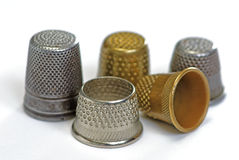Five thimbles Stock Image