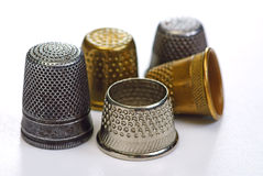 Five thimbles Royalty Free Stock Image