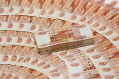 Five Thousand Ruble Notes Royalty Free Stock Photo