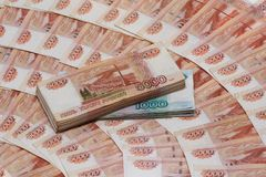 Five Thousand Ruble Notes and One Thousand Ruble Notes Royalty Free Stock Image