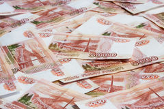 Five thousandth bills. Russian money, five thousandth bills royalty free stock photography