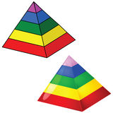 Five-tier pyramid Royalty Free Stock Images