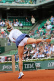 Five times Grand Slam champion Maria Sharapova in action during her third round match at Roland Garros 2015 Royalty Free Stock Photo