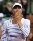 Five times Grand Slam champion Maria Sharapova after first round match at Roland Garros 2015. PARIS, FRANCE- MAY 25, 2015:Five times Grand Slam champion Maria Stock Photos