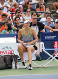 Five times Grand Slam Champion Maria Sharapova practices for US Open 2015 at National Tennis Center Royalty Free Stock Image