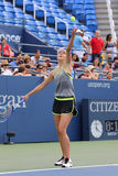 Five times Grand Slam Champion Maria Sharapova practices for US Open 2015 at National Tennis Center Stock Photos