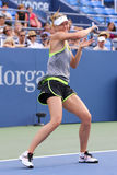 Five times Grand Slam Champion Maria Sharapova practices for US Open 2015 at National Tennis Center Stock Photo