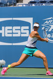 Five times Grand Slam champion Maria Sharapova practices for US Open 2014 Royalty Free Stock Images