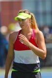 Five times Grand Slam champion Maria Sharapova practices for US Open 2014 Stock Image