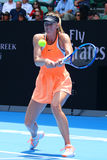 Five times Grand Slam champion Maria Sharapova of Russia in action during quarterfinal match at Australian Open 2016 Stock Photography