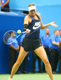 Five times Grand Slam Champion Maria Sharapova of Russian Federation practices for US Open 2017. NEW YORK - AUGUST 26, 2017: Five times Grand Slam Champion Maria royalty free stock images