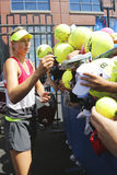 Five times Grand Slam champion Maria Sharapova signing autographs after practice for US Open 2014 Stock Image