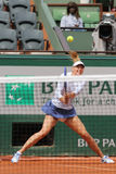Five times Grand Slam champion Maria Sharapova during third round match at Roland Garros 2015 Stock Image