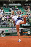 Five times Grand Slam champion Maria Sharapova during third round match at Roland Garros 2015 Royalty Free Stock Images