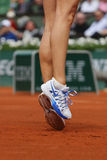 Five times Grand Slam champion Maria Sharapova wears custom Nike shoes during third round match at Roland Garros Stock Images