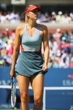 Five times Grand Slam champion Mariya Sharapova during third round match at US Open 2014 Royalty Free Stock Photo