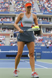 Five times Grand Slam champion Mariya Sharapova during third round match at US Open 2014 Stock Photos