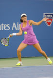 Five times Grand Slam champion Martina Hingis during final doubles match at US Open 2014 Royalty Free Stock Photo