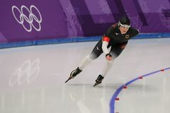 Five times Olympic Champion Claudia Pechstein of Germany competes in the Ladies` 5,000m Speed Skating at the 2018 Winter Olympics Stock Images