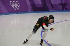 Five times Olympic Champion Claudia Pechstein of Germany competes in the Ladies` 5,000m Speed Skating at the 2018 Winter Olympics Royalty Free Stock Photos