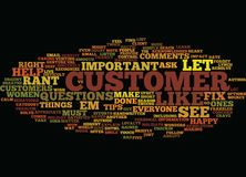 Five Tips To Calm Cranky Customers Text Background Word Cloud Concept Stock Photography