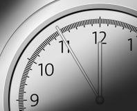 Five to twelve. Clock showing five to twelve vector illustration