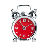 Five to two on a metal alarm clock Stock Images