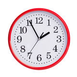 Five to two on a round clock face Royalty Free Stock Photo