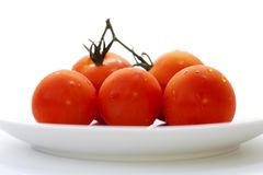 Five Tomatoes Royalty Free Stock Image