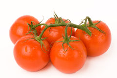 Five tomatos Royalty Free Stock Photography