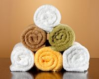Five towels Royalty Free Stock Image