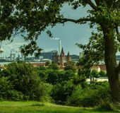 The five towered church in Kalundborg. The five towered in kalundborg Stock Photography