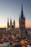The Five Towers of Halle (Saale) Stock Images
