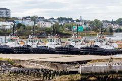 Five Tugboats in Harbor Royalty Free Stock Photography