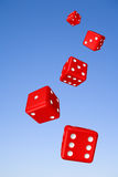 Tumbling Dice and Sky Royalty Free Stock Photo