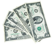 Five Two Dollars Notes Stock Images