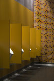 Five Urinals. In a public restroom Royalty Free Stock Image