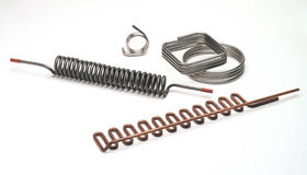 Five Various Metal Coils Stock Photography