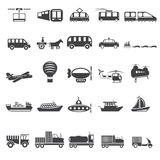 five vector icons of transport theme Royalty Free Stock Photo